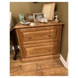 Wooden 2-Drawer File Cabinet