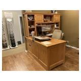 Solid Oak L-Shaped Desk