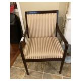 (4) Striped Upholstered Arm Chairs