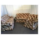 3pc Floral Upholstered Living Room Suite