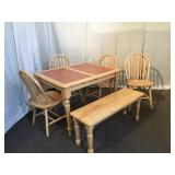 Breakfast Table w/ Bench & Chairs