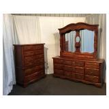 Pine 2pc Bedroom Suite
