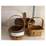 (3) Longaberger Baskets