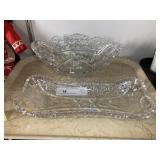(2) Pcs Decorative Cut Glass