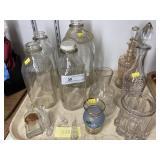 Enameled Stoppered Bottles, Milk Bottles, Etc.