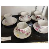 (5) Decorative Cups/Saucers