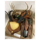 Glass Insulators & Deer Horns on Plaques