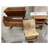 Wooden Doll Furniture Pieces