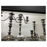 Silverplate Candlestick Lot