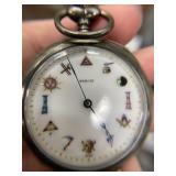 Sirom Vintage Silverplate Pocketwatch
