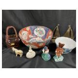 Collectibles-Oriental Bowl, Glass Purse