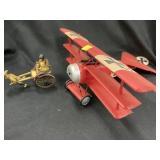 Plastic Biplane, Oriental Sulky w/Lady/Dogs