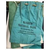 9 Vintage Bank Bags: Manheim, PA, etc.