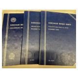 (3) Lincoln Penny Books w/ Semi Keys