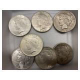(7) Peace Dollars
