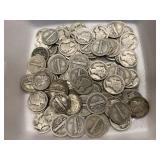 $10 in Mercury Dimes