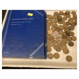 Lot of Wheat Pennies & a Few Indian Pennies