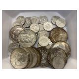 $9.10 in 90% Silver Halves & Dimes