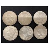 (6) Peace Dollars