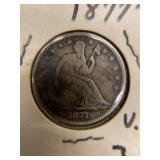1877 S Seated Liberty Half
