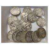 $10 in Silver Walking Liberty Halves