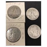 (4) Silver Halves