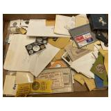 Misc. Lot of Coins & Tokens, etc.