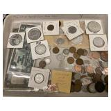 Misc Lot of Foreign Coins: Some Silver