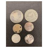 (6) Type Coins Incl. 1798 & 1820 Large Cents