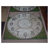 2-OLD LEADED GLASS CLOCK PANELS...