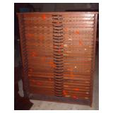 HUGE PRINTERS CABINET W/ ALL DRAWERS