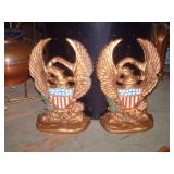 OLD CAST IRON BOOK ENDS
