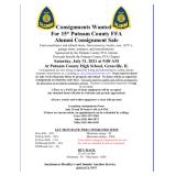 Putnam County FFA Alumni Consignment Fundraiser