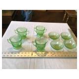 Green depression glass