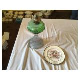 Westgate Ia plate And vintage lamp