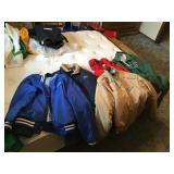 Coats and sweatshirt