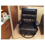 Leather rocker And footstool