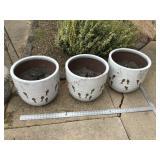 3 Concrete lined pots