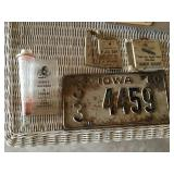 License plate and advertising pieces