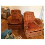 Swivel rocker and side chair
