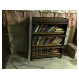 Antique oak book barrister with books