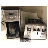 Lot- microwave, cuisanart coffee maker, toaster