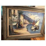 44x32 framed port scene camprio