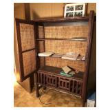 Wicker and wood Dresser w/ key