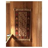 Red tapestry rug