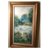 48x28 framed Artdissone pond painting