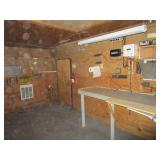 shed interior with built-ins