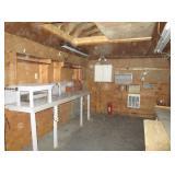 shed interior - loft for storage