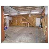 interior of garage - view from garage doorway