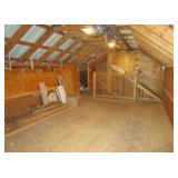 garage loft - open storage area